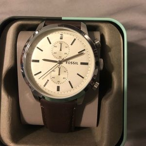 Brand New Leather Fossil Watch- Mens